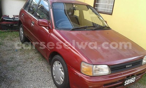 Buy Used Toyota Starlet Red Car in Mont Fleuri in Greater Victoria