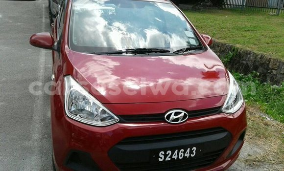Buy Used Hyundai Grand i10 Red Car in Beau Vallon in North Mahé